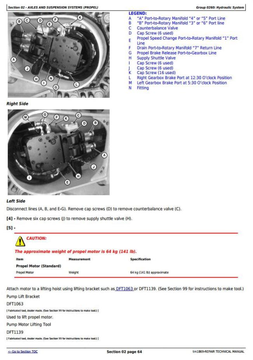 Second Additional product image for - John Deere 653G (SN. from 880060) Tracked Feller Buncher Service Repair Technical Manual (tm1869)