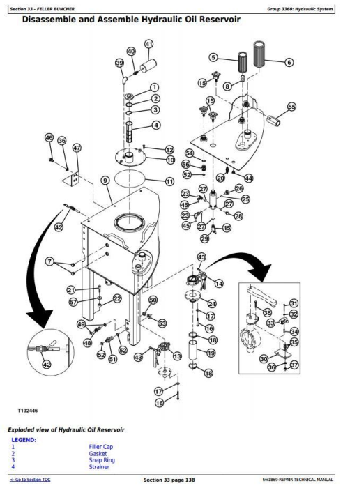 Fourth Additional product image for - John Deere 653G (SN. from 880060) Tracked Feller Buncher Service Repair Technical Manual (tm1869)