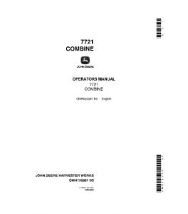John Deere 7721 Combine Operator Manual Omh120061 | eBooks | Automotive