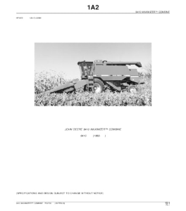 John Deere 9410 Maximizer Combine Parts Catalog Manual Pc2700 | eBooks | Automotive