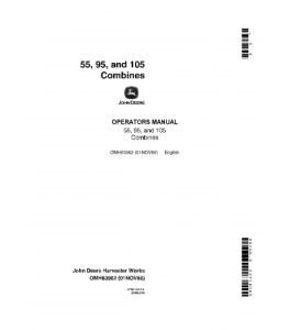 John Deere 55 95 105 Combine Operator Manual Omh63962 | eBooks | Automotive