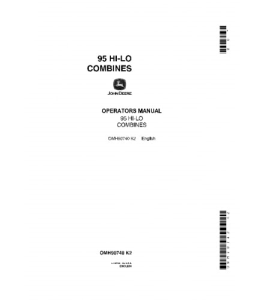 JOHN DEERE 95 Hi Lo COMBINE OPERATOR MANUAL OMH90740 | eBooks | Automotive