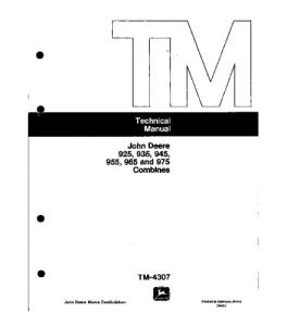 John Deere 925 935 945 955 965 975 Combine Technical Service Manual Tm4307 | eBooks | Automotive