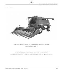 John Deere 9550 Self-Propelled Combine Parts Catalog Manual Pc2801 | eBooks | Automotive