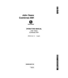 John Deere 95h Combine Operator Manual Omh91022 | eBooks | Automotive