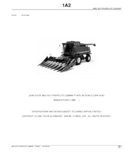 John Deere 9650 Self-Propelled Combine Parts Catalog Manual Pc2802 | eBooks | Automotive