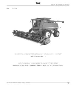 John Deere 9650cts Self-Propelled Combine Parts Catalog Manual Pc2803   eBooks   Automotive