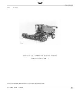 John Deere Cts Ii Combine Parts Catalog Manual Pc2752 | eBooks | Automotive
