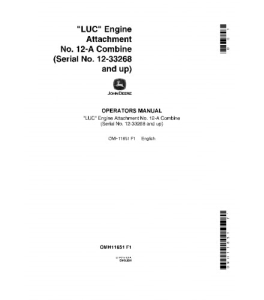 John Deere Luc 12-A Lus Luw Combine Operator Manual Omh11651 | eBooks | Automotive