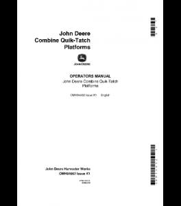 John Deere Quik-Tatch Platforms Combine Operator Manual Omh84062 | eBooks | Automotive