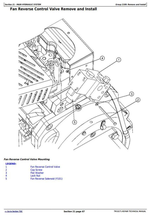 Second Additional product image for - John Deere 853J, 903J, 953J Tracked Feller Buncher Service Repair Technical Manual (TM10271)