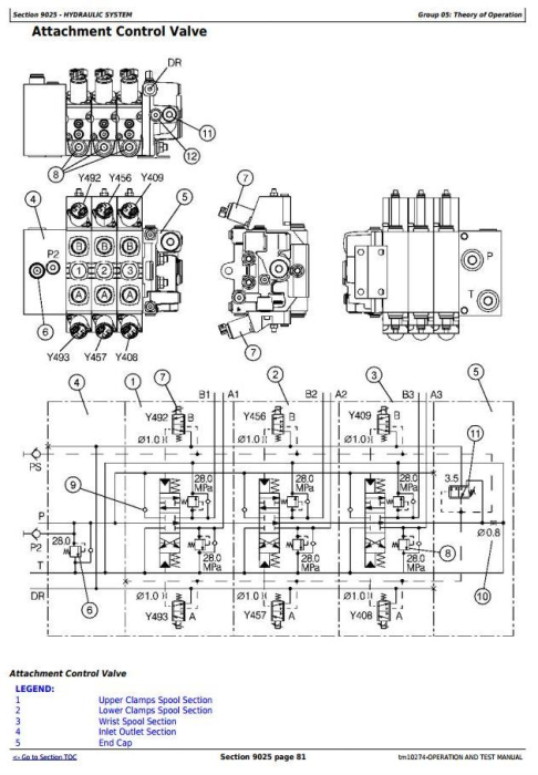 Fourth Additional product image for - John Deere 853G/850, 903G/900, 953G/950 Tracked Feller Buncher Diagnostic Service Manual (tm10274)