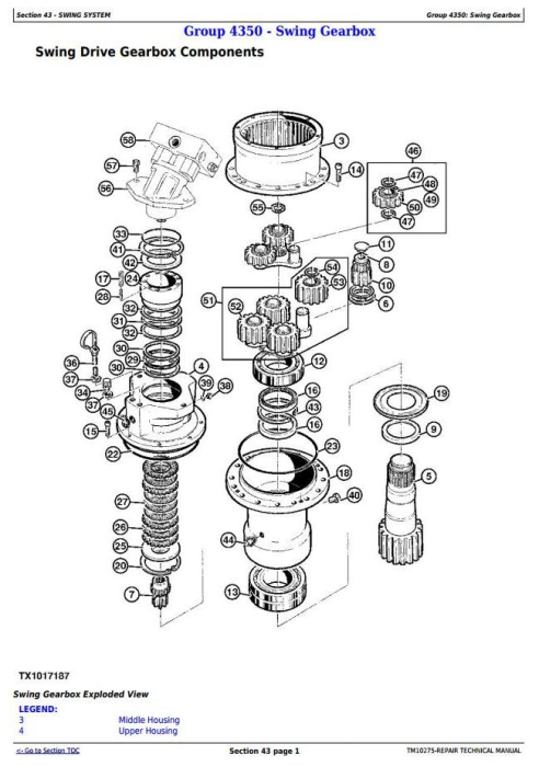 Third Additional product image for - John Deere 853G/850, 903G/900, 953G/950 Tracked Feller Buncher Service Repair Manual (TM10275)