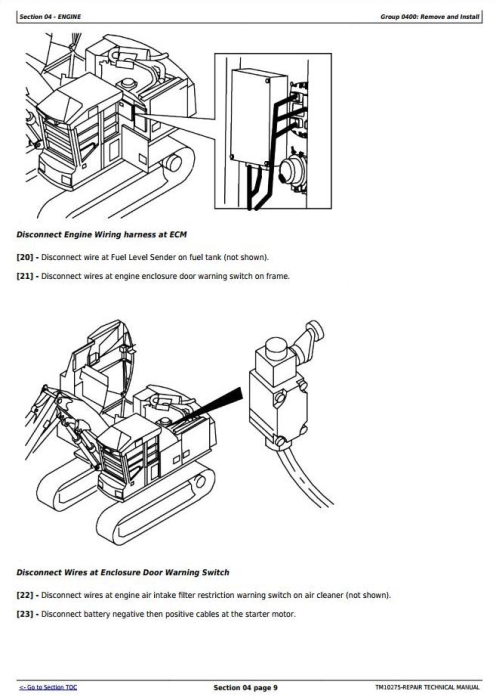 Fourth Additional product image for - John Deere 853G/850, 903G/900, 953G/950 Tracked Feller Buncher Service Repair Manual (TM10275)