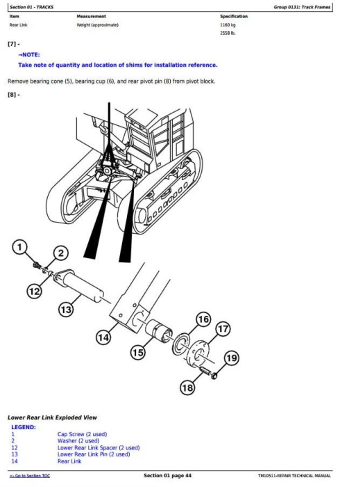 Second Additional product image for - John Deere 753J, 759J (SN. -220452) Tracked Feller Buncher Service Repair Technical Manual (TM10511)