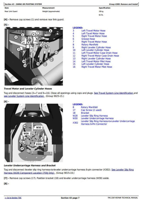 Fourth Additional product image for - John Deere 753J, 759J (SN.C220453-) Tracked Feller Buncher Service Repair Technical Manual (TM12397)