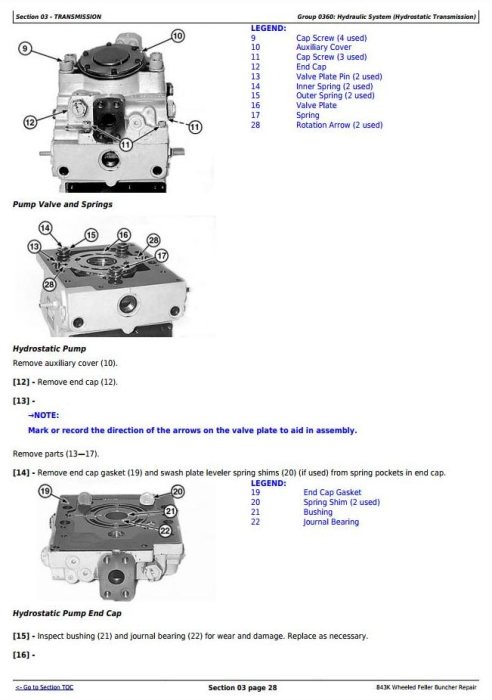 Second Additional product image for - John Deere 843K Wheeled Feller Buncher Service Repair Technical Manual (TM11364)
