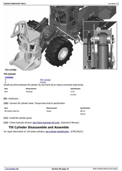 Fourth Additional product image for - John Deere 843K Wheeled Feller Buncher Service Repair Technical Manual (TM11364)