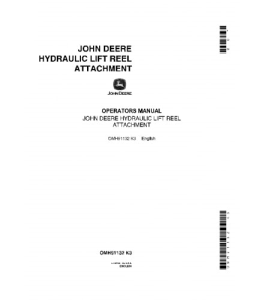 JOHN DEERE 45 COMBINE Hydraulic Lift Reel Attachment OPERATOR MANUAL OMH91132 | eBooks | Automotive