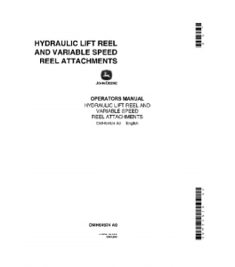 JOHN DEERE 55 95 105 COMBINE Hydraulic Lift Reel, Variable Speed Reel Attachments OPERATOR MANUAL OMH64924 | eBooks | Automotive