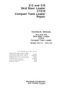 John Deere 313 315 Ct315 Skid Steer Compact Track Loader Service Technical Manual Tm10608 | eBooks | Automotive