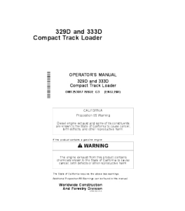 John Deere 329d 333d Compact Track Loader Operator Manual Omt253017 | eBooks | Automotive