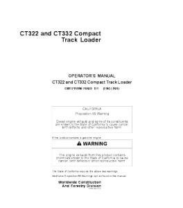 John Deere Ct322 C332 Compact Track Loader Operator Manual Omt215996 | eBooks | Automotive