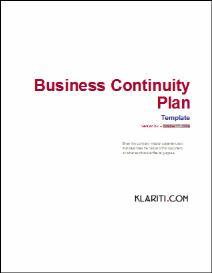 Business Continuity Plan Template | Software | Software Templates