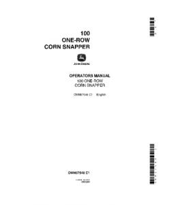 John Deere Manual 100 One Row Corn Snapper Operator Omn97548 | eBooks | Automotive