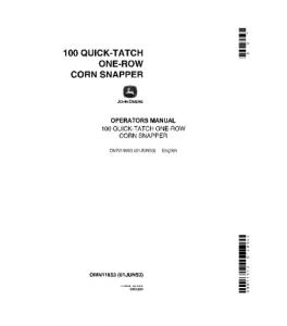 John Deere 100 Quik Tatch One Row Corn Snapper Operator Manual Omn11653 | eBooks | Automotive
