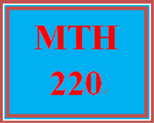mth 220 week 1 mymathlab® week 1 homework