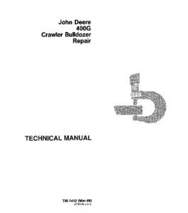 John Deere 400g Crawler Dozer Service Technical Manual Tm1412 | eBooks | Automotive