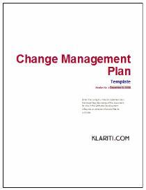 Change Management Plan Template | Software | Software Templates