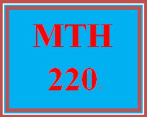 mth 220 week 1 homework