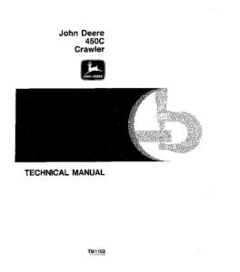 John Deere 450c Crawler Loader Bulldozer Service Technical Manual Tm1102 | eBooks | Automotive