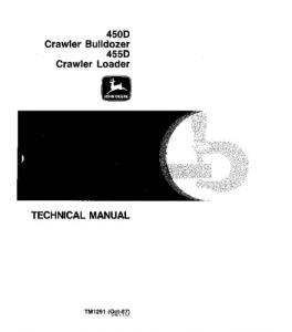 John Deere 450d 455d Crawler Loader Bulldozer Service Technical Manual Tm1291 | eBooks | Automotive