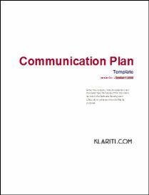 Communication Plan Template | Software | Software Templates