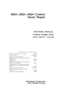 John Deere 450h 550h 650h Crawler Dozer Technical Service Manual Tm1744   eBooks   Automotive