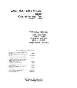 John Deere 450j 550j 650j Crawler Dozer Operation And Test Service Manual Tm2257 | eBooks | Automotive