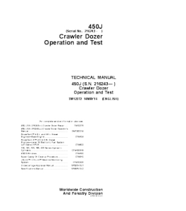John Deere 450j Crawler Dozer Operation And Test Service Manual Tm12272 | eBooks | Automotive