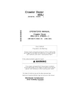 John Deere 450j Crawler Dozer Operator Manual Omt302214 | eBooks | Automotive