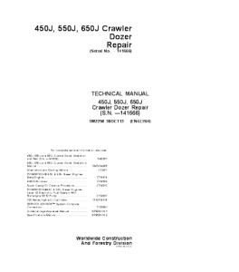 John Deere 450j 550j 650j Crawler Dozer Service Technical Manual Tm2258 | eBooks | Automotive