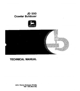 John Deere 550 Crawler Dozer Service Technical Manual Tm1108   eBooks   Automotive