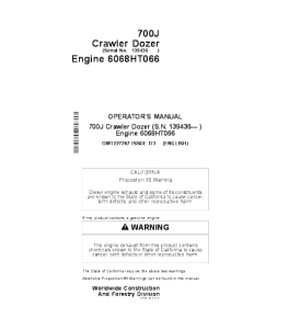 John Deere 700j Crawler Dozer Operator Manual Omt227267 | eBooks | Automotive