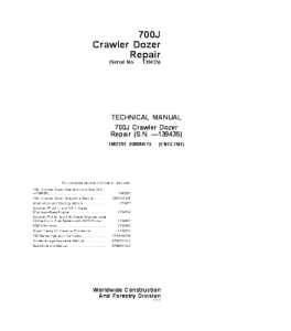 John Deere 700j Crawler Dozer Service Technical Manual Tm2291 | eBooks | Automotive