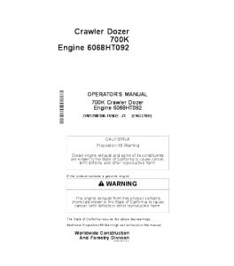 John Deere 700k Crawler Dozer Operator Manual Omt288306 | eBooks | Automotive