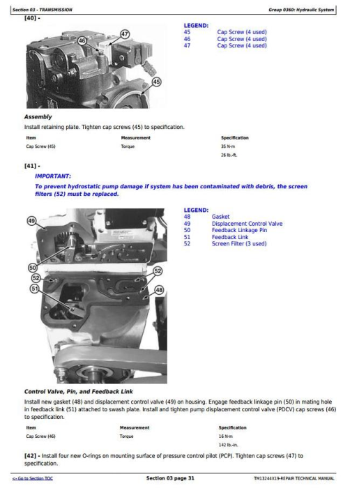Second Additional product image for - John Deere 803M, 853M, 859M (Closed-Loop Hyd.Drv)Feller Buncher(SN.270423-) Repair Manual (TM13244X19)