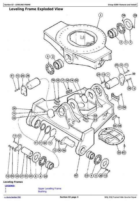 Second Additional product image for - John Deere 909J, 959J Tracked Feller Buncher Service Repair Technical Manual (TM10273)