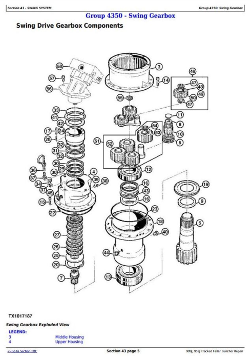 Third Additional product image for - John Deere 909J, 959J Tracked Feller Buncher Service Repair Technical Manual (TM10273)