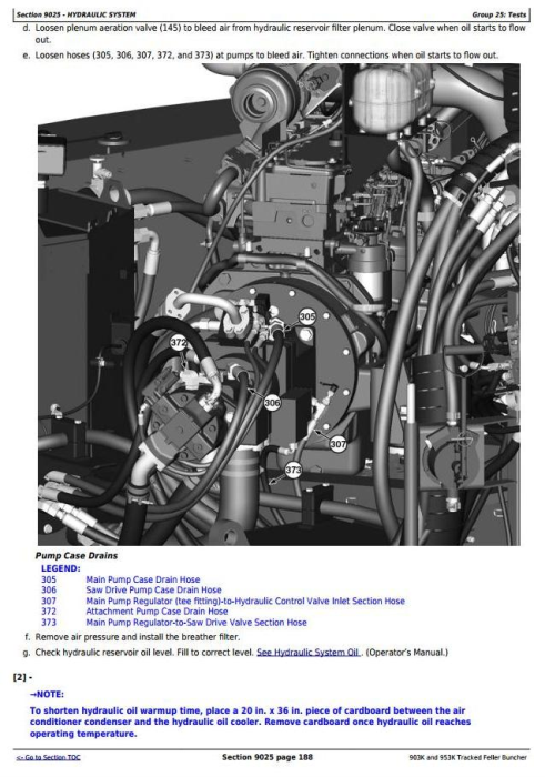 Fourth Additional product image for - John Deere 903K, 953K Tracked Feller Buncher Diagnostic, Operation and Test Service Manual (TM11621)